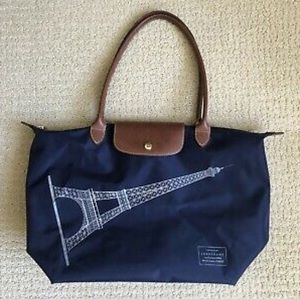 Long champ large bag , navy blue color